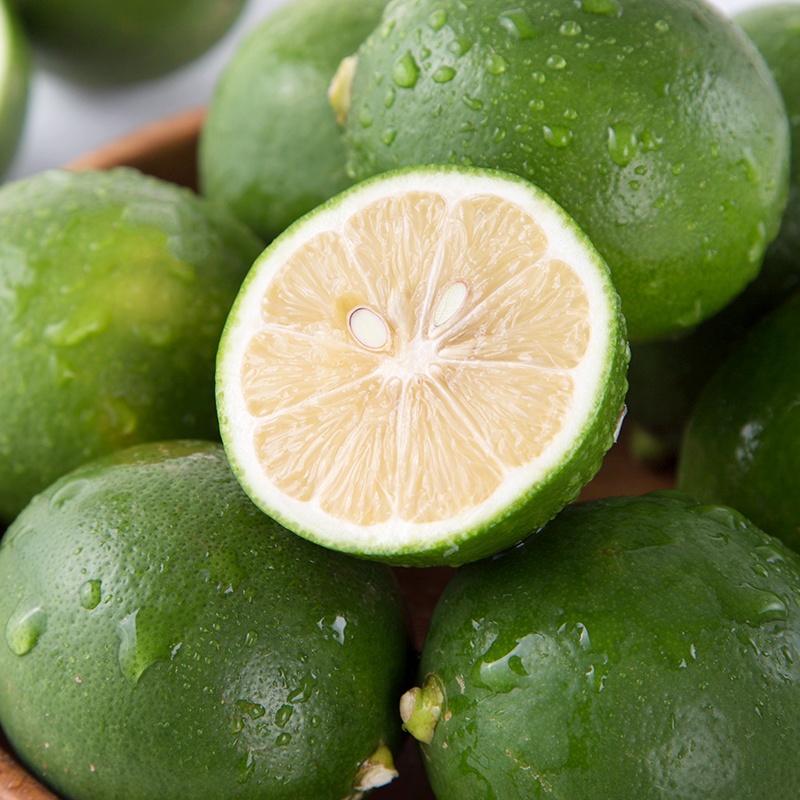 【悠汇园】海南青柠檬 新鲜水果泡茶酸柠檬榨汁柠檬 3斤